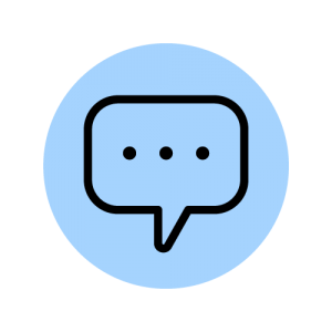 Chat Bubble Line Icon Animation