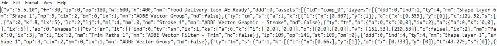 JSON Animation using Lottie Format