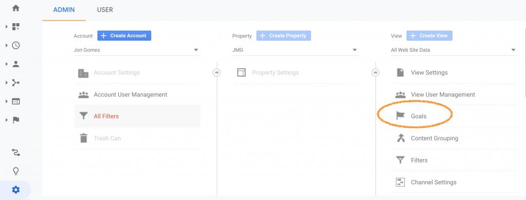 Goal Setup Google Analytics